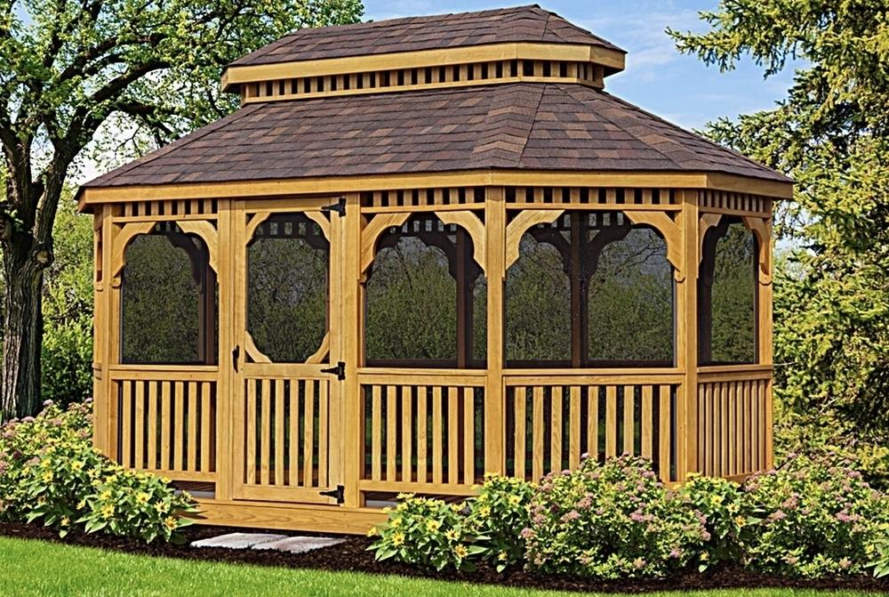 Image Oval Cedar Gazebos
