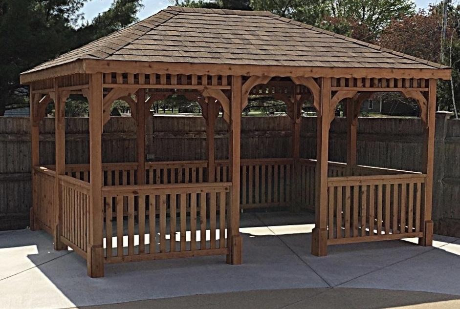 Image Rectangle Cedar Gazebos - Large