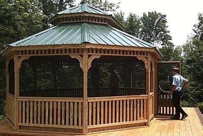Image Oval Pine Gazebos - Large