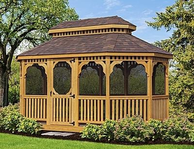 Image Oval Cedar Gazebos - Large